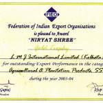 Niryat Shree 2003-04